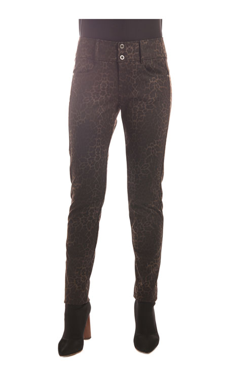 309A-Stretch-Ponte-9in-Rise-Ankle-Skinny-Jean-(Brown-Print)