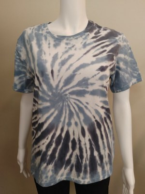 PYA tie dye t-shirt in navy