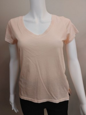 PYA v-neck t-shirt in peach